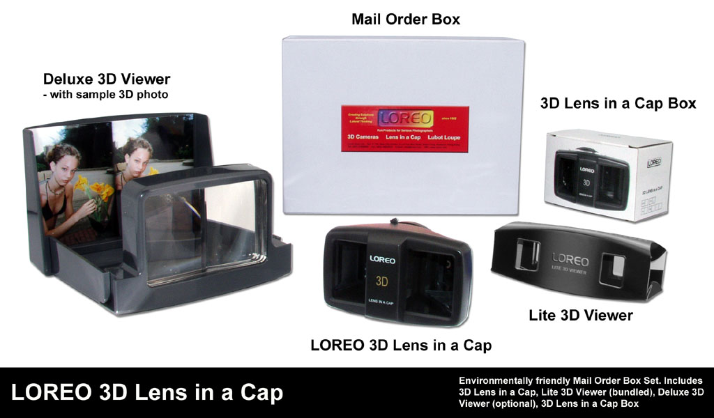 LOREO 3D Lens in a Cap Mail Order Box Set